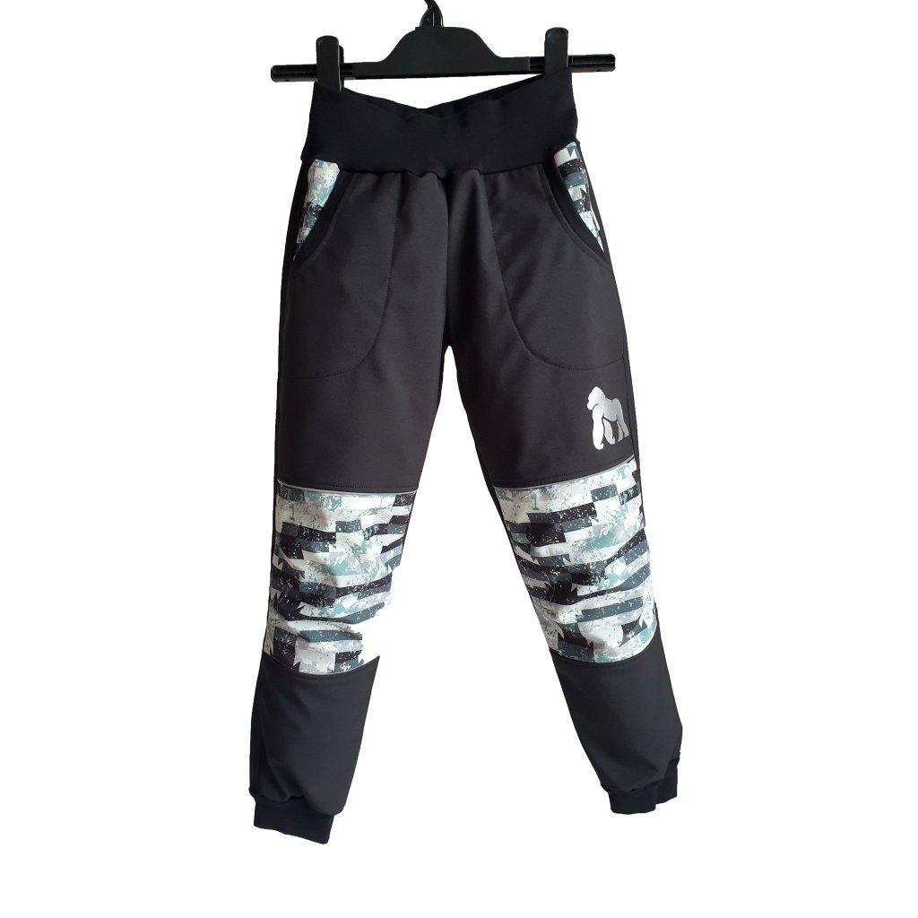 Softshellové kalhoty šedé cihly na černé K PREDEK