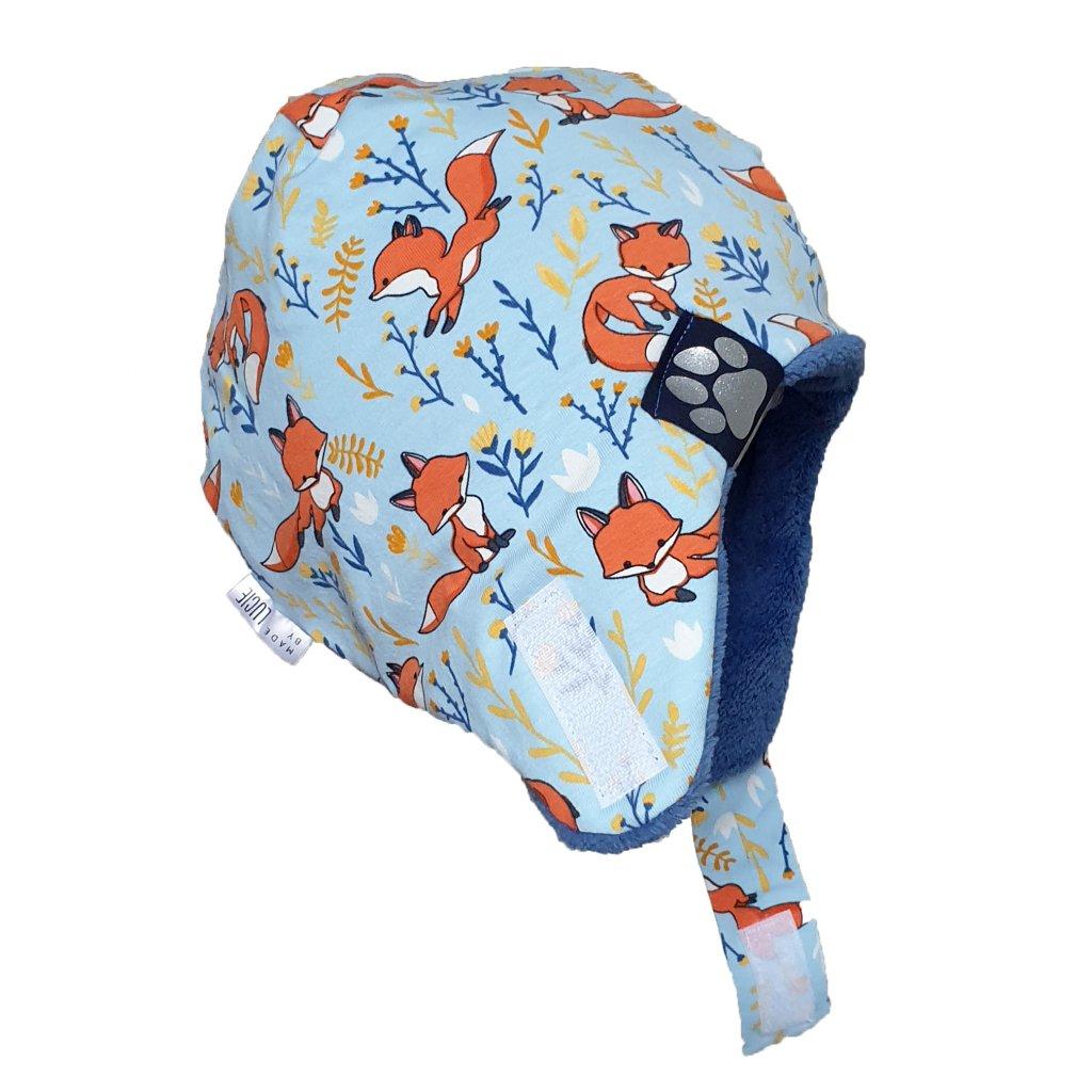 Zimní ušanka modré lišky
