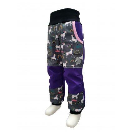 softshell kalhoty jednorozci 1