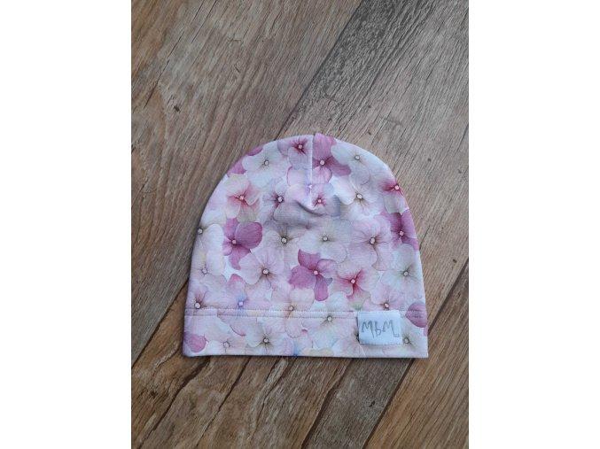 BABY HAT PASTEL FLOWERS