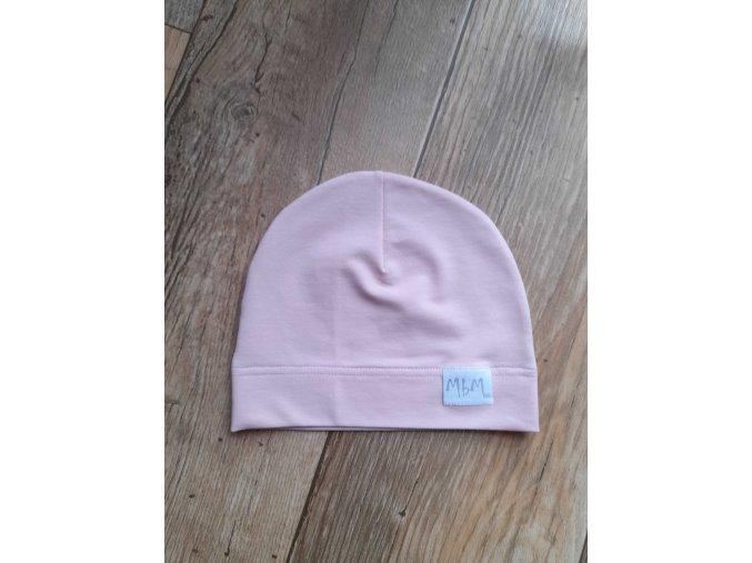 BABY HAT LIGHT ROSE