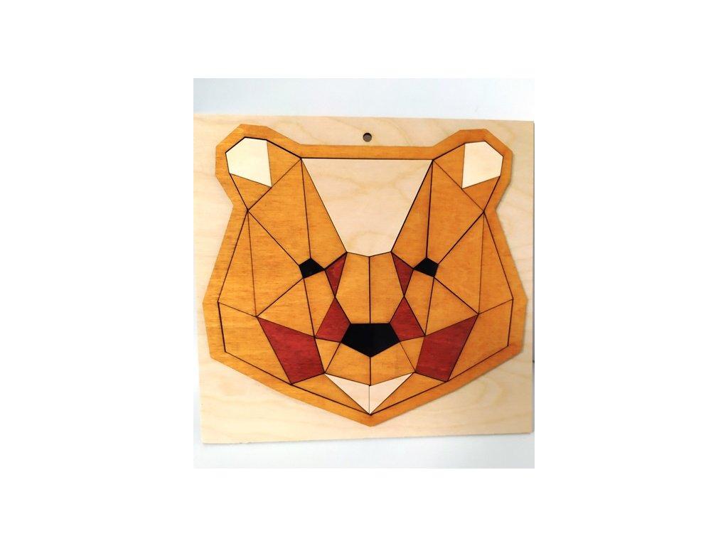 Medvěd puzzle - pinie