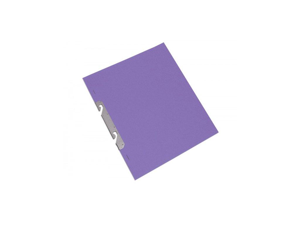 Rychlovazač kartonový závěsný celý A4 fialový