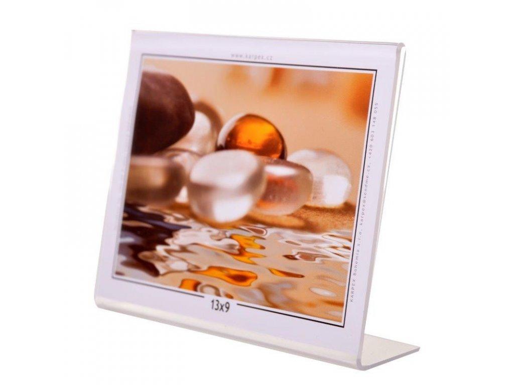 Akrylový fotorámeček 13x9cm šířka