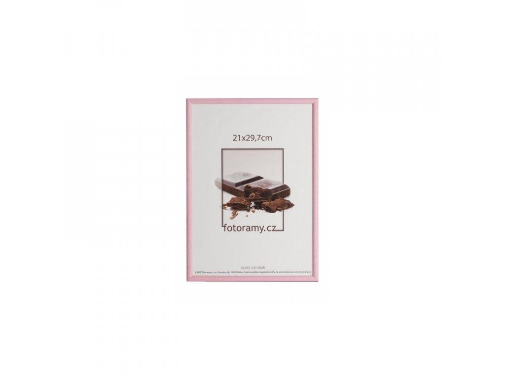 Dřevěný fotorámeček 13x18 růžový