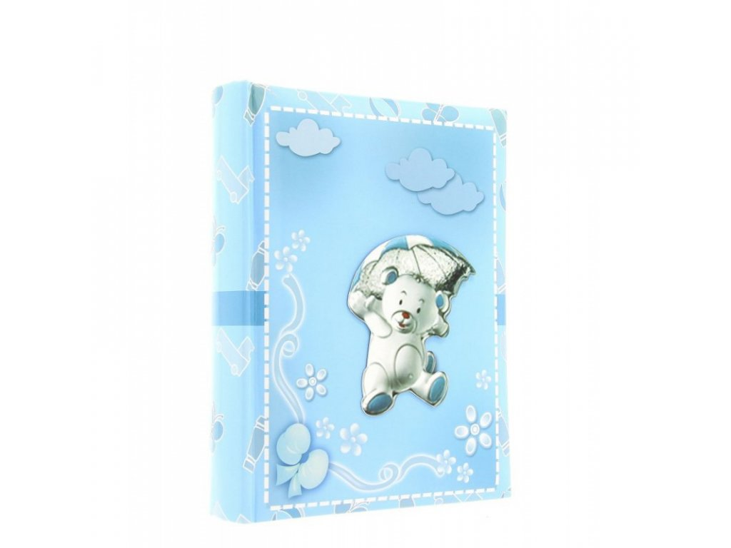 Dětské fotoalbum 9x13/200 Umbrella modré
