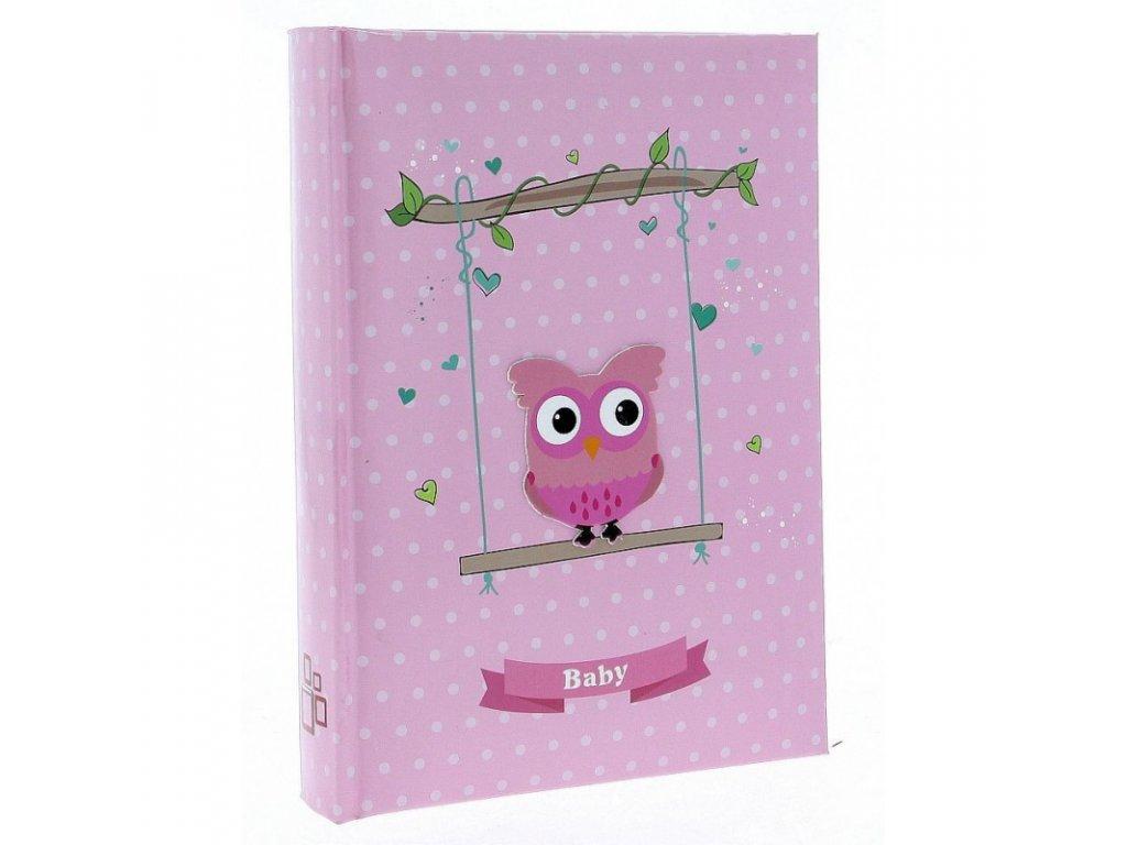 Dětské fotoalbum 10x15/300 BIRD růžové