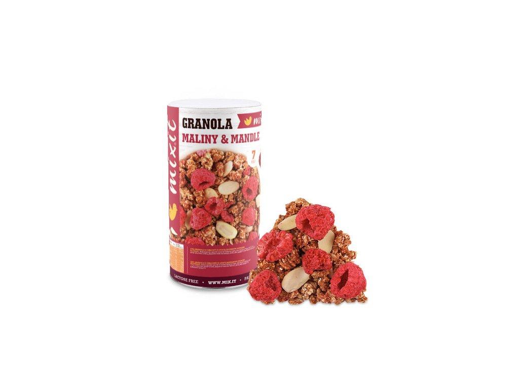 Granola z pece - Maliny a mandle