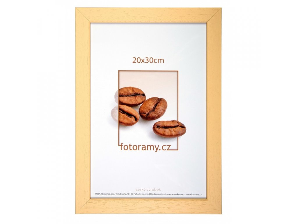 Dřevěný fotorámeček 30x45 natural 04