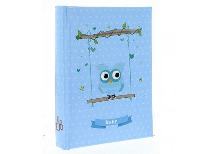 Dětské fotoalbum 10x15/300 BIRD modré