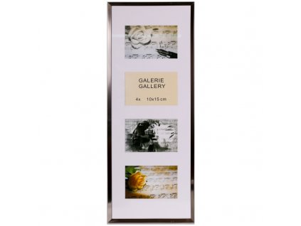 GALERIE TIMELESS 4 foto 10x15 ocelová-stahl