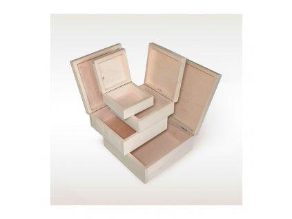 Dřevěná krabice čtvercová L