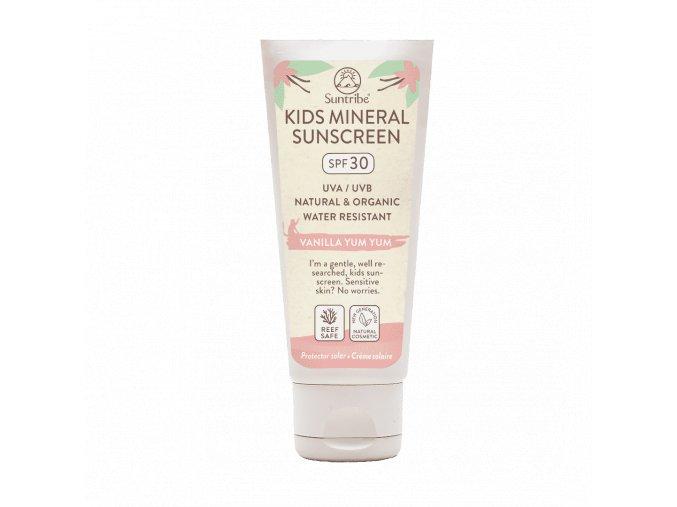 suntribe mineralische bio kindersonnencreme vanille lsf 30