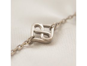 Luxusní stříbrný náramek - perfektní dárek za porod