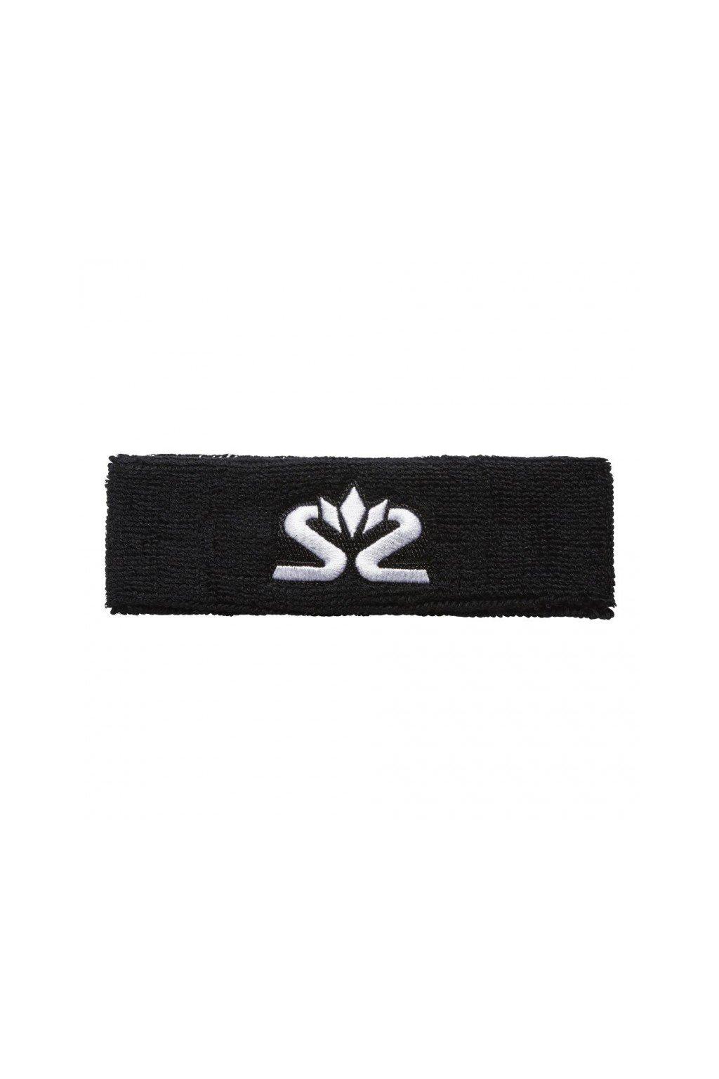 salming knitted headband black white