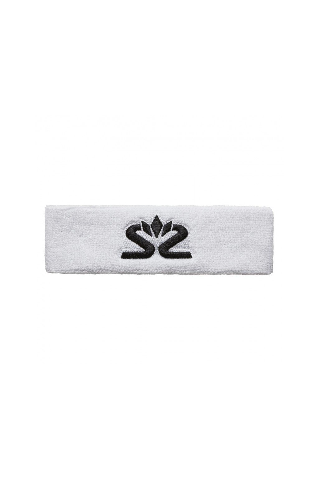 salming knitted headband white black