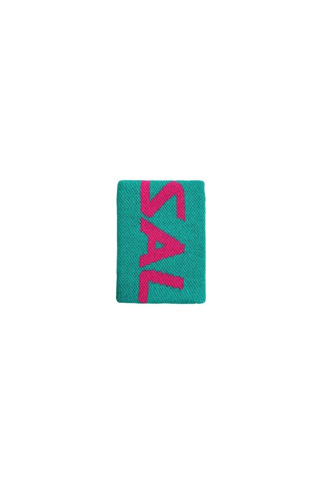 salming wristband mid ceramic green azalea pink