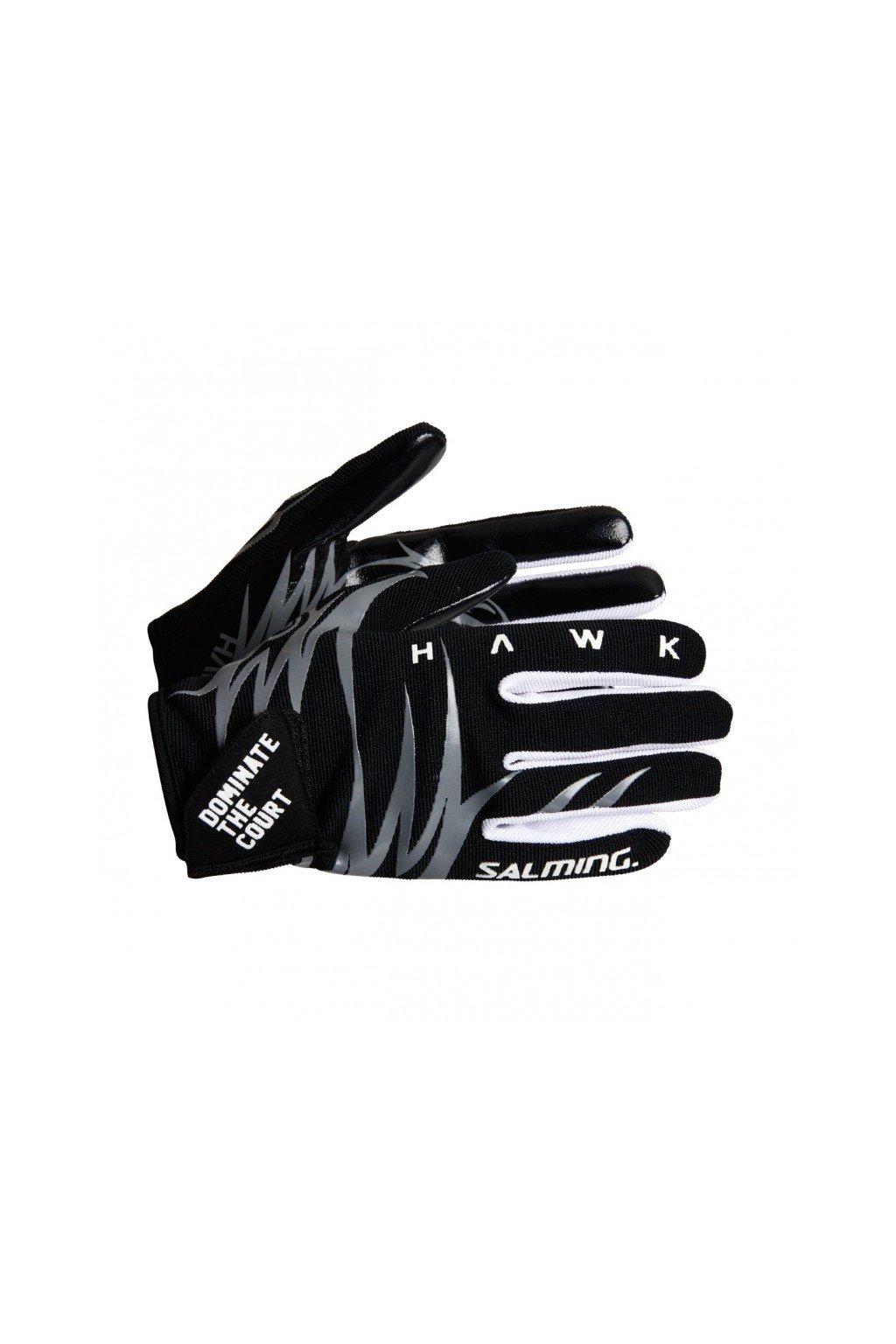 salming hawk gloves black grey m