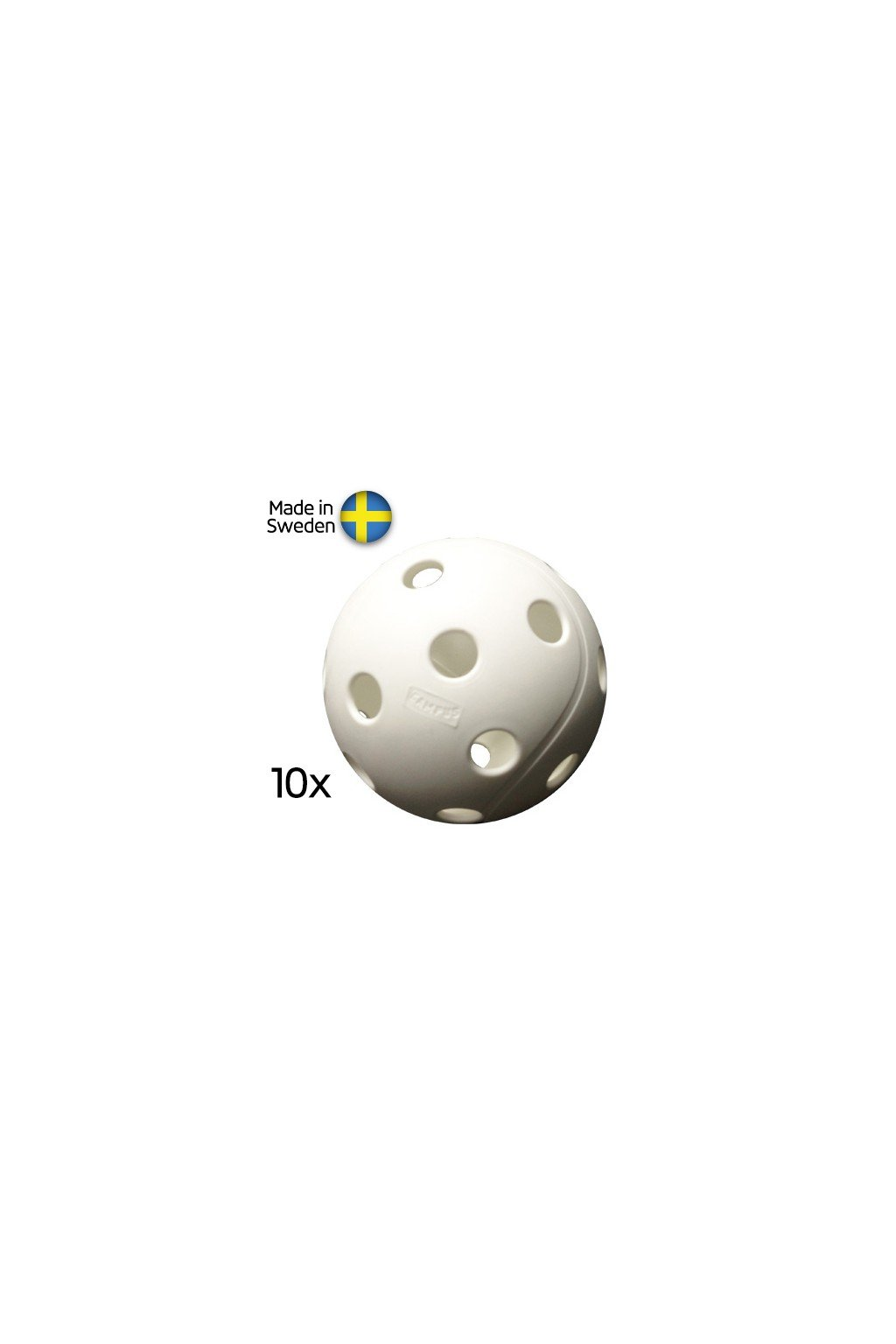 salming campus ball white 10 pack