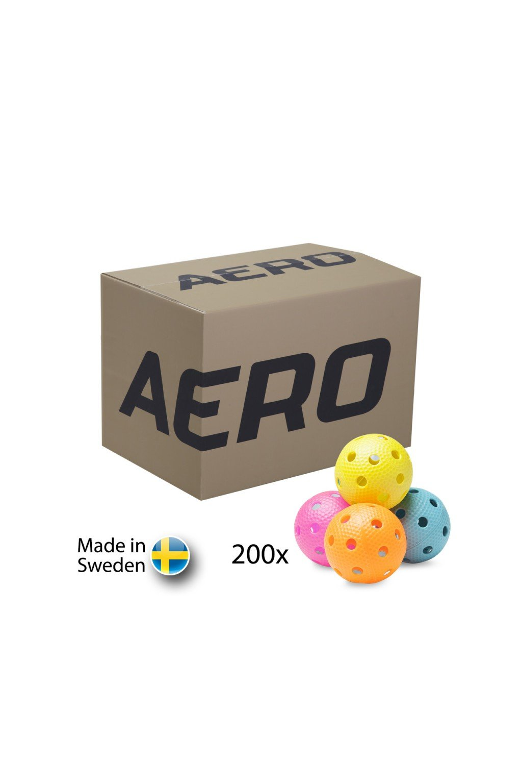 salming aero floorball mixed colours 200 pack