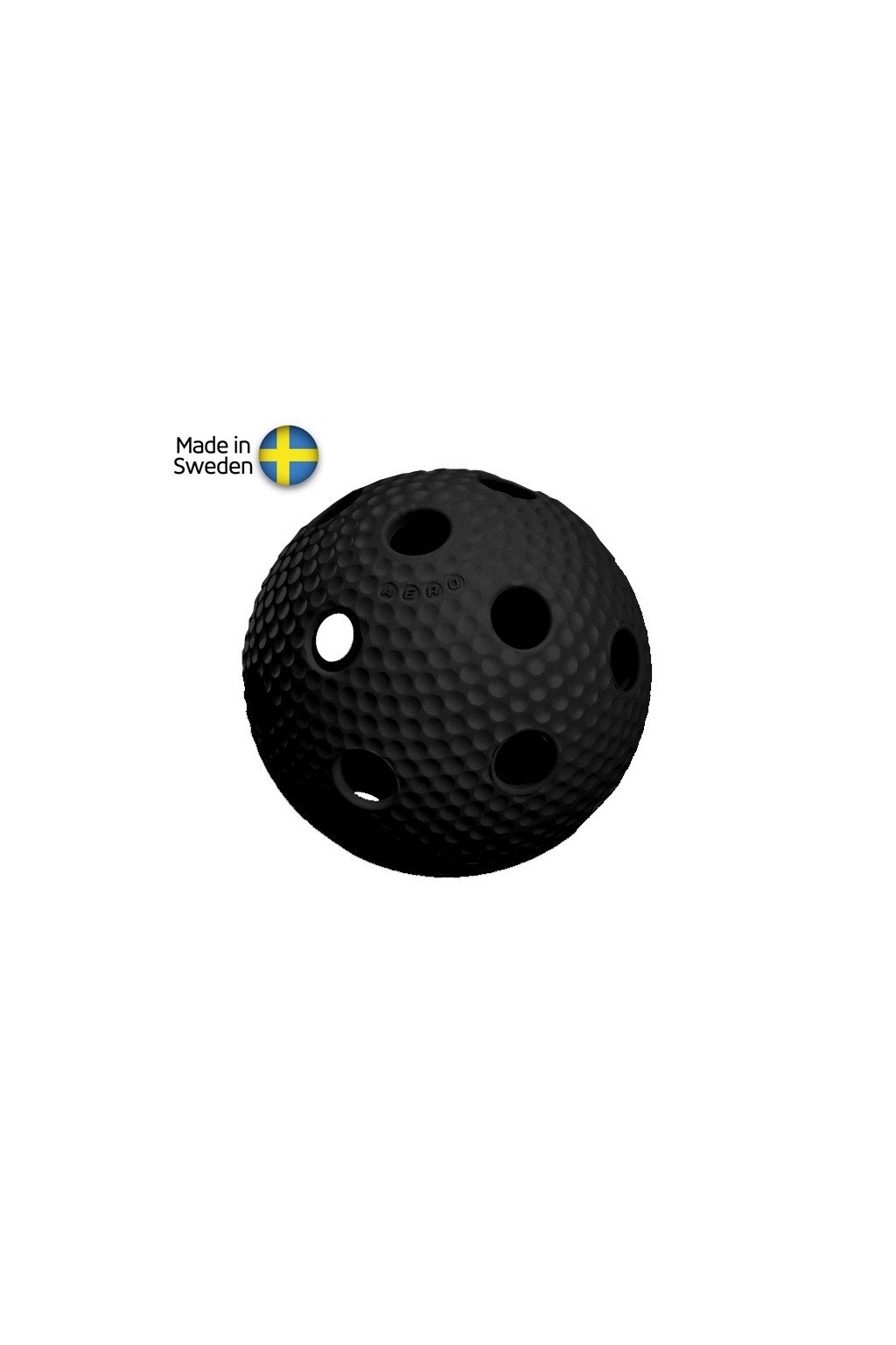 salming aero plus ball black with dumples