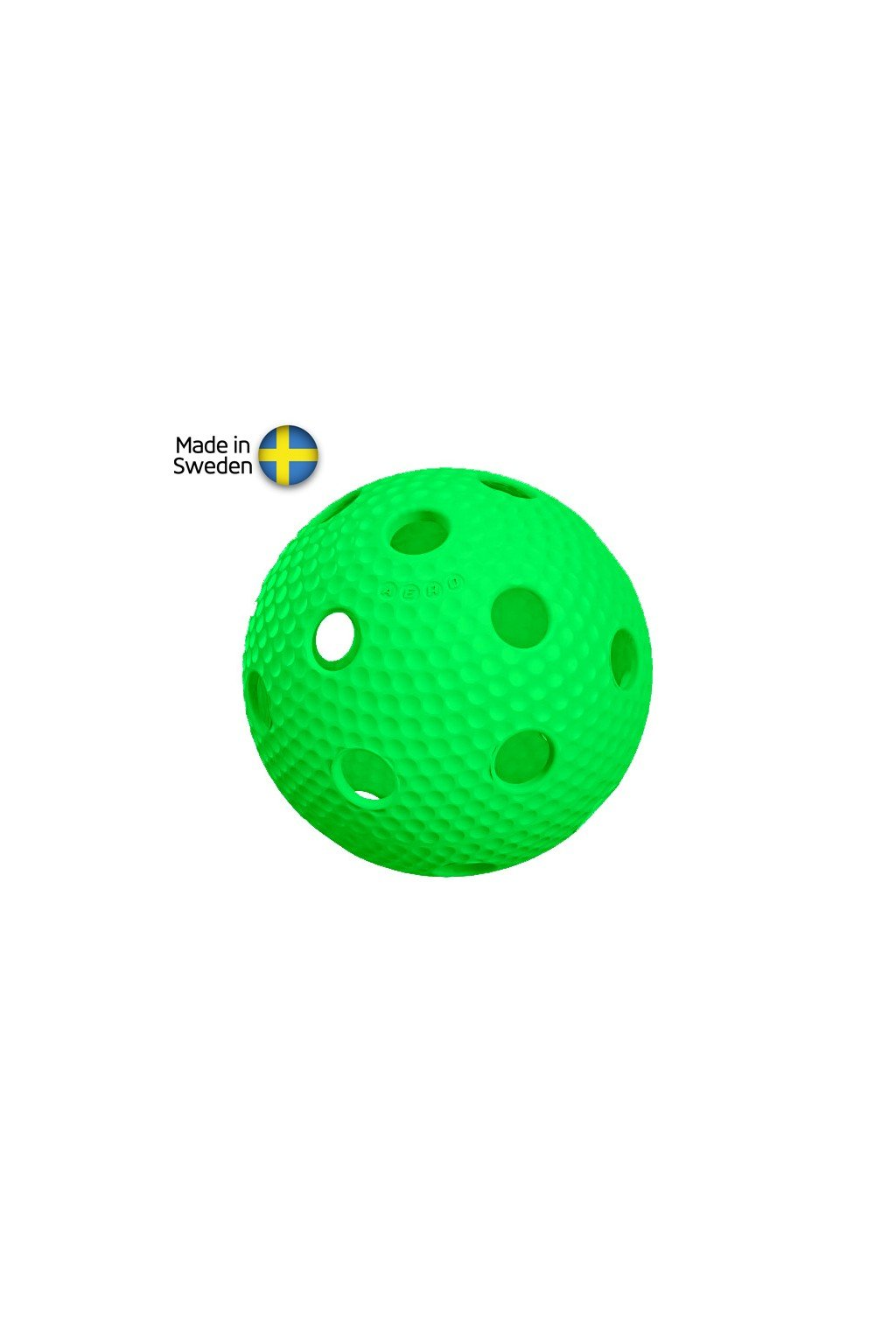 salming aero plus ball green with dumples