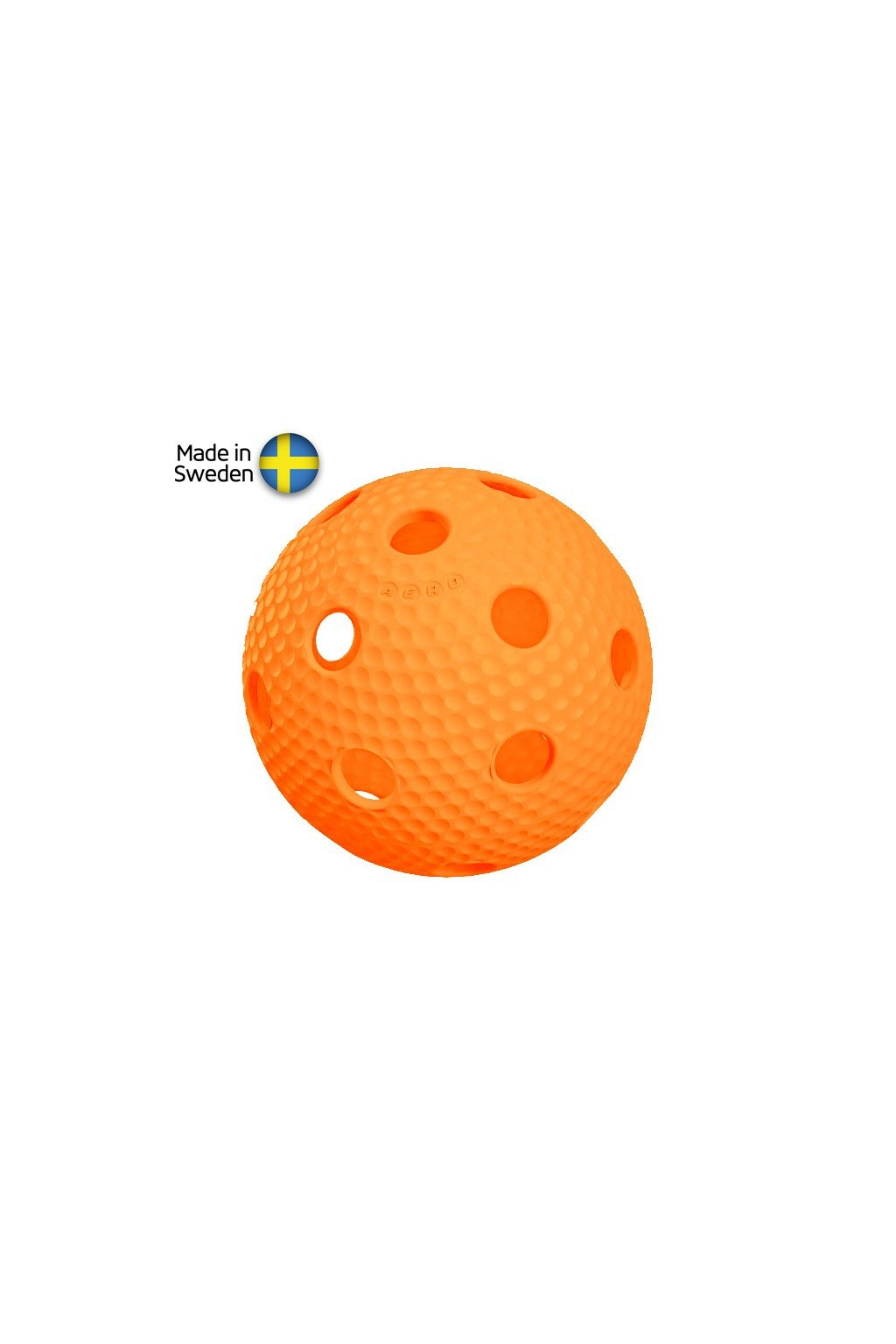 salming aero plus ball orange with dumples