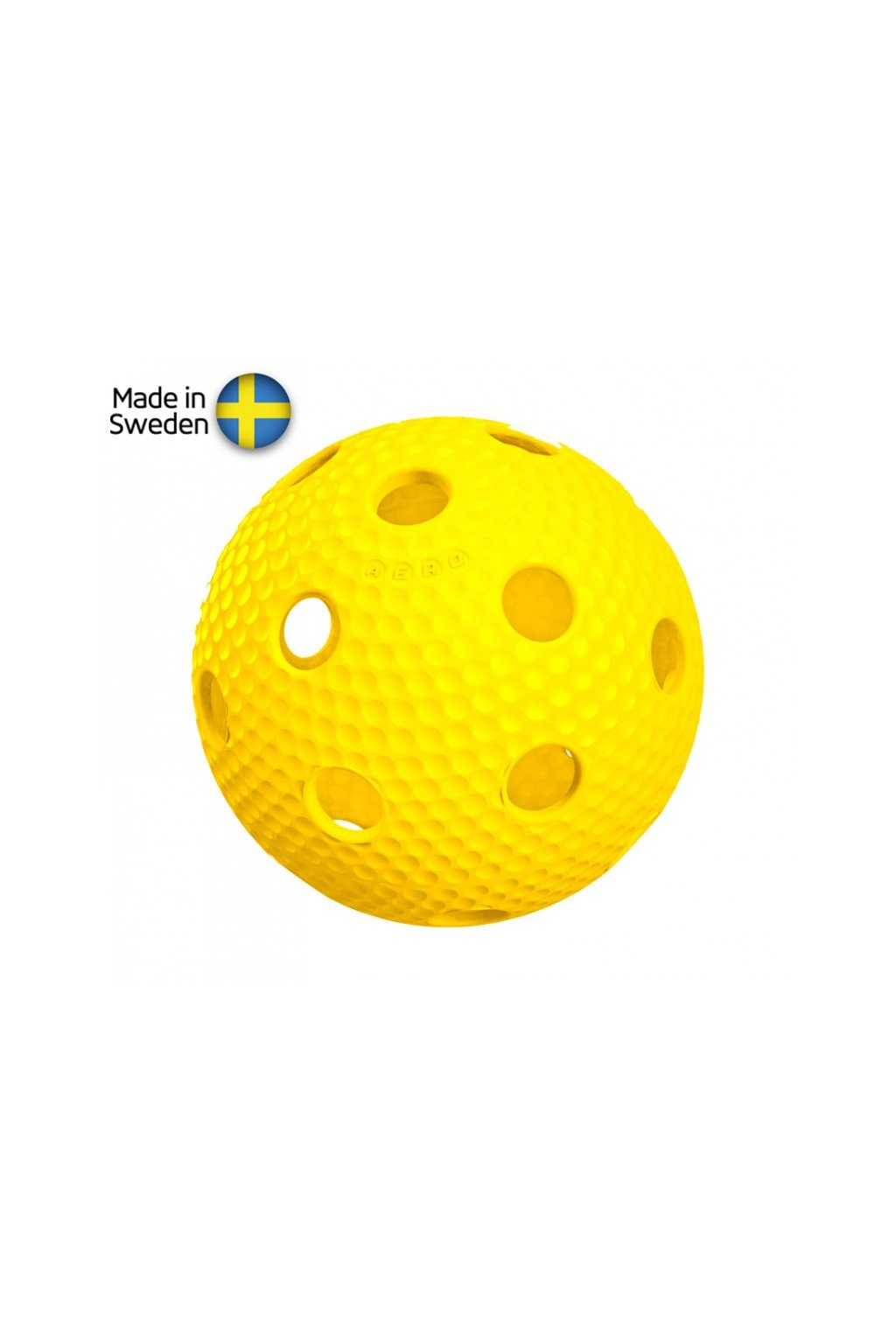 salming aero plus ball yellow with dumples
