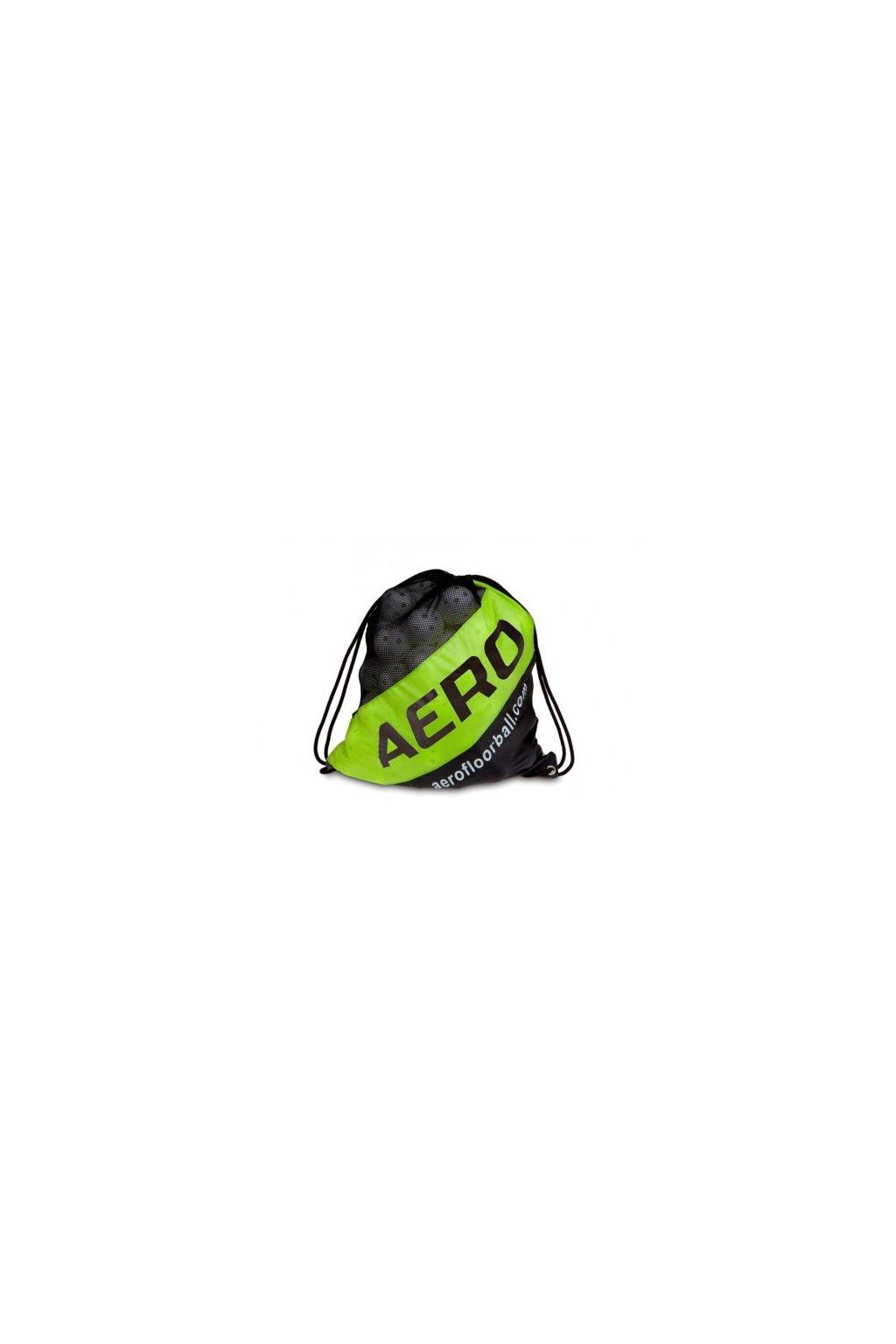 salming aero ball sack black fluoyellow