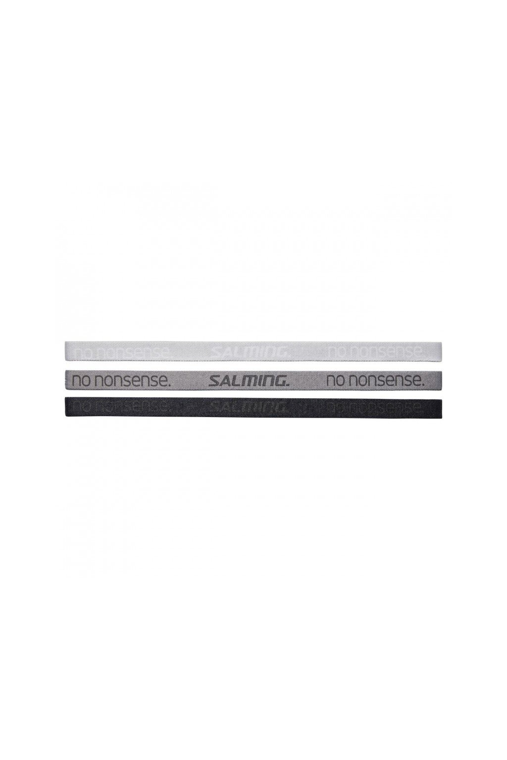 salming hairband 3 pack grey black