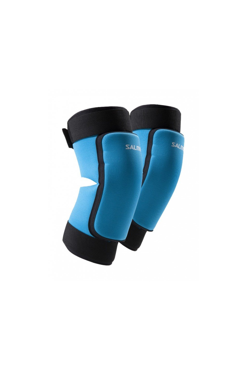 salming core knee pads cyan blue m