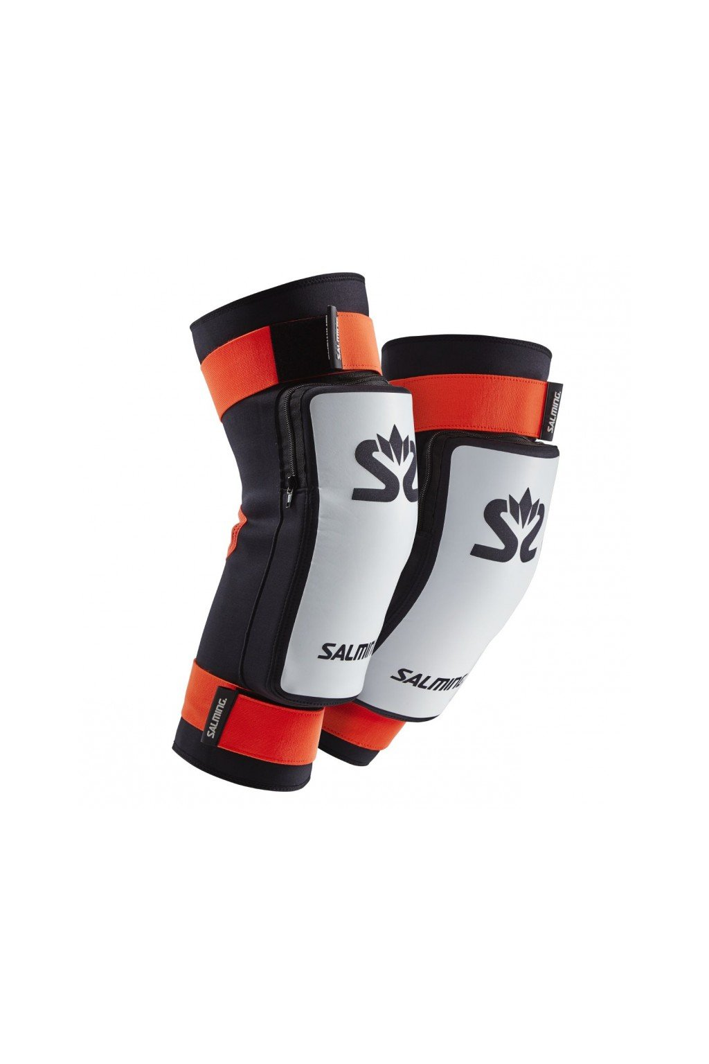 salming kneepads e series white orange xs