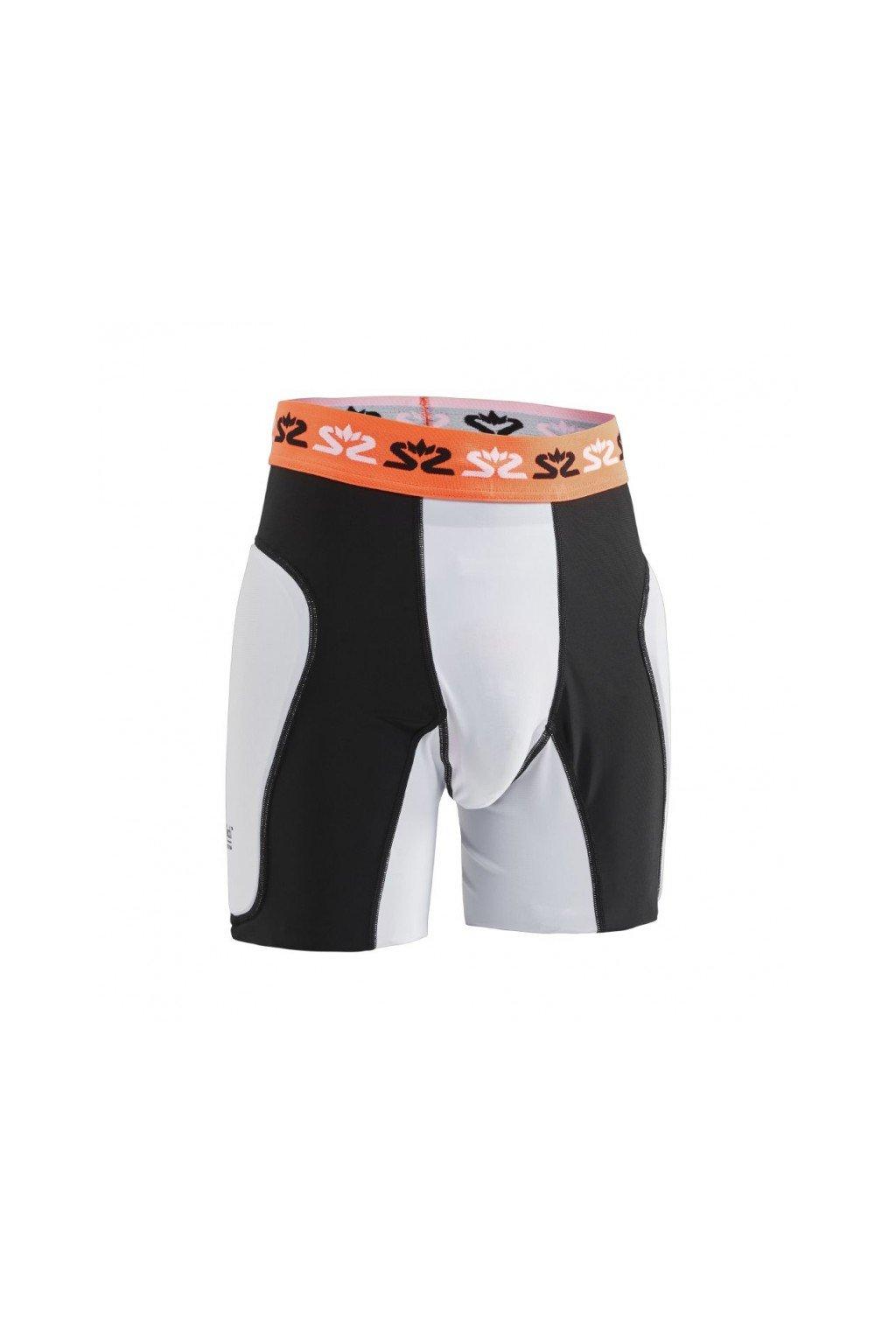 SALMING E-Series Protective Shorts White/Orange L