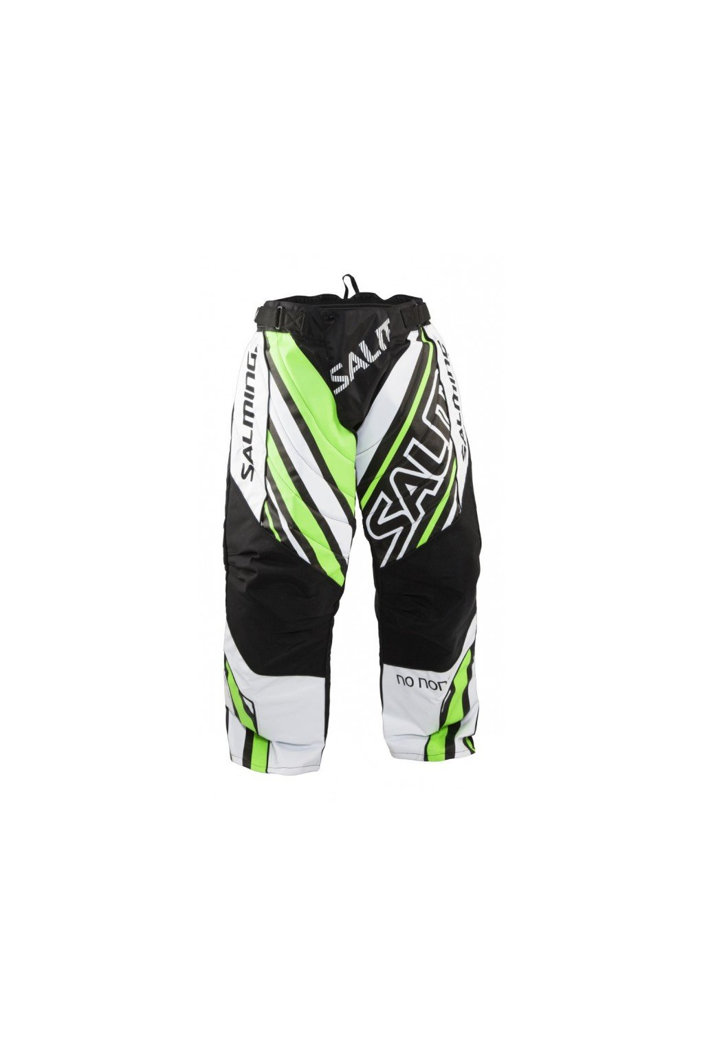 salming phoenix pant jr white geckogreen 164