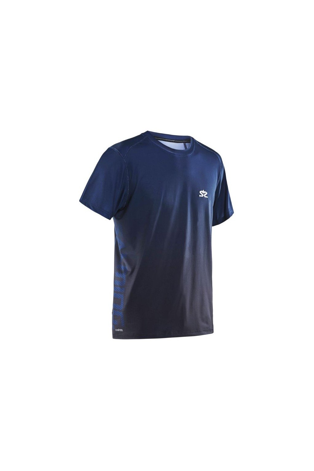 salming beam tee navy black xl