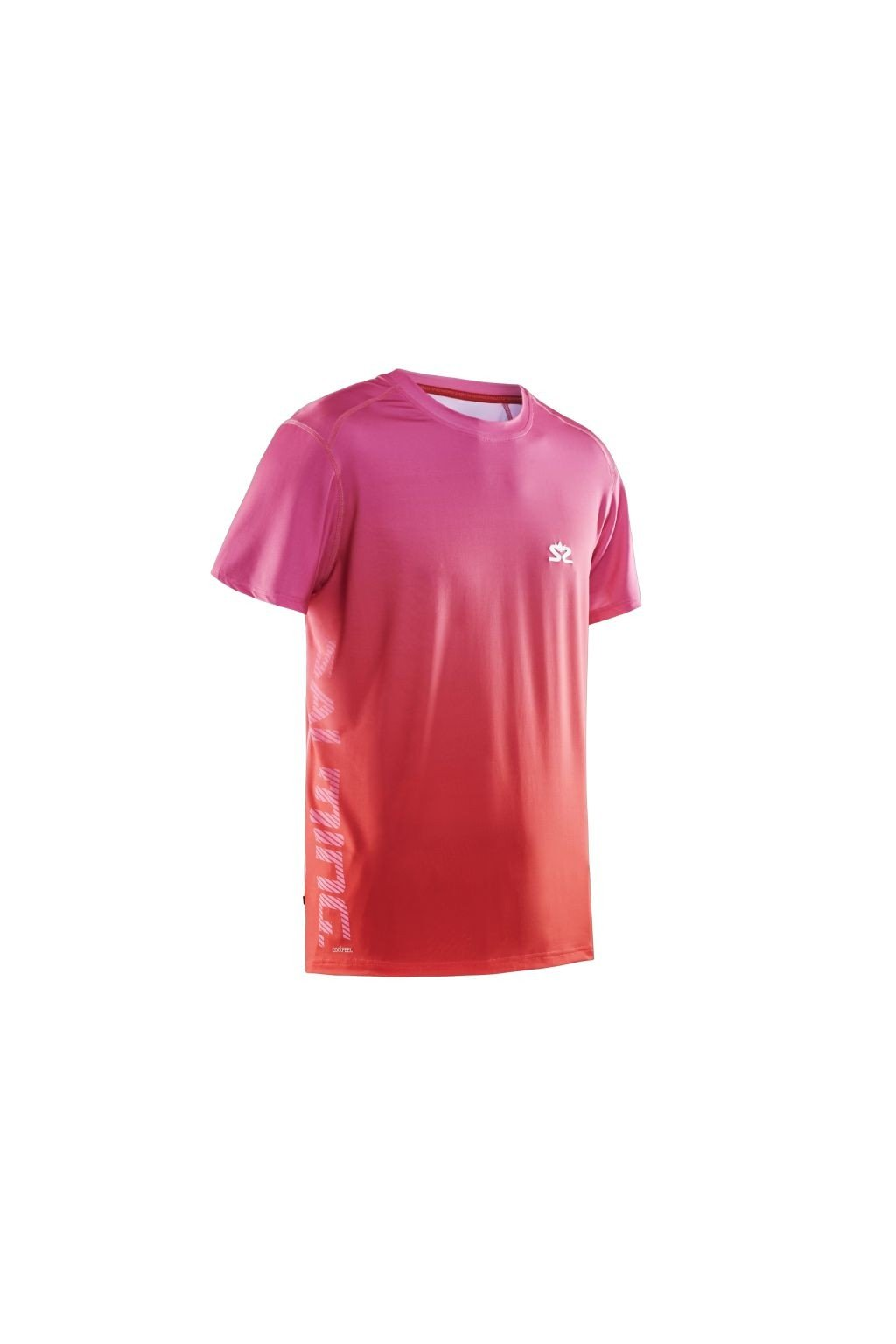 salming beam tee pink red xl