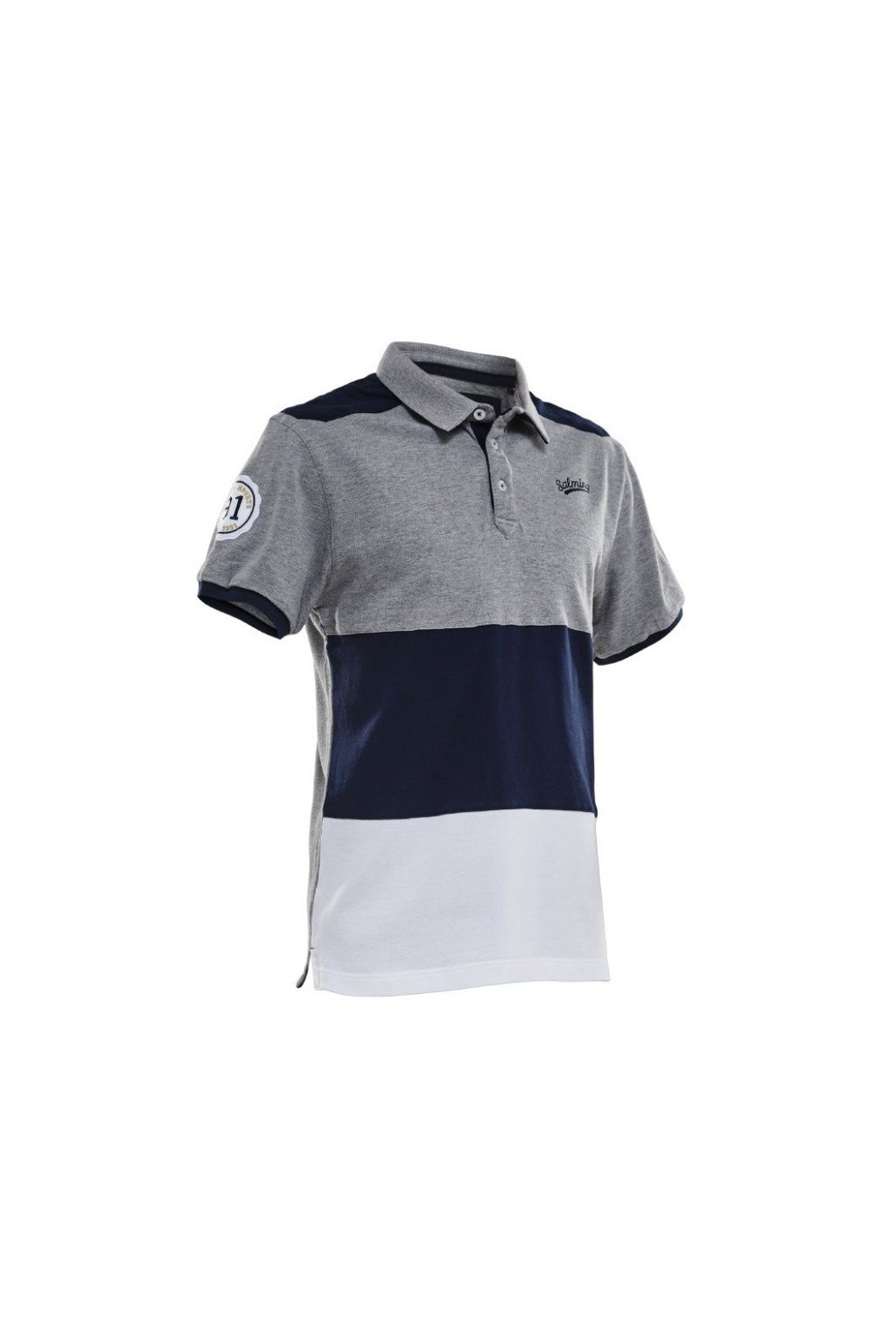 salming evergreen polo grey melange xxl