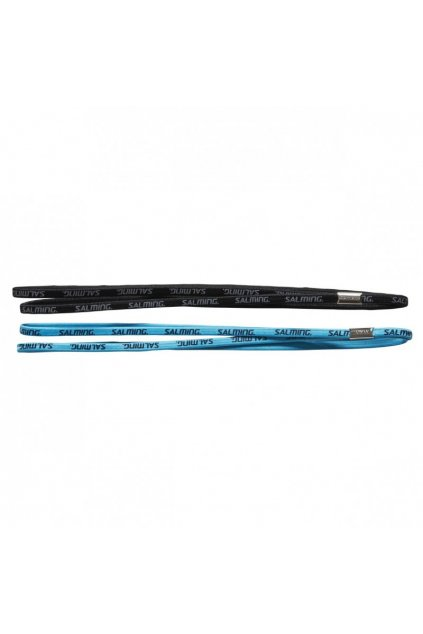 salming twin hairband 2 pack blue black