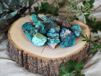 malachit chryzokol surovy kamen