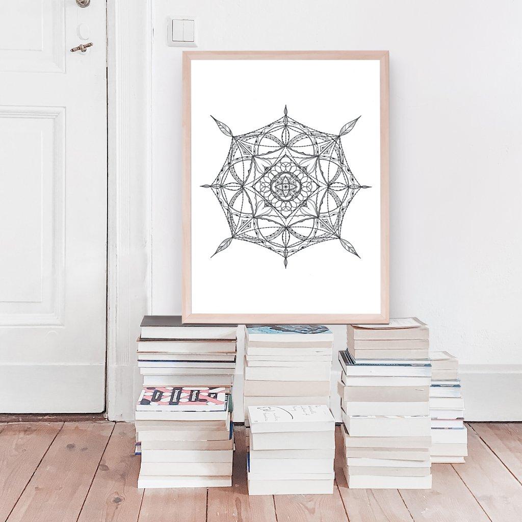 Plakát mandala infinity
