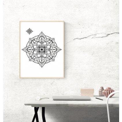 Plakat mandala hvezda