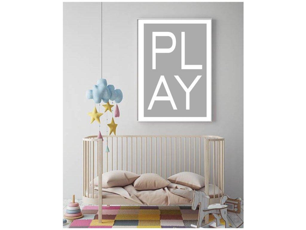 dětský plakát šedý