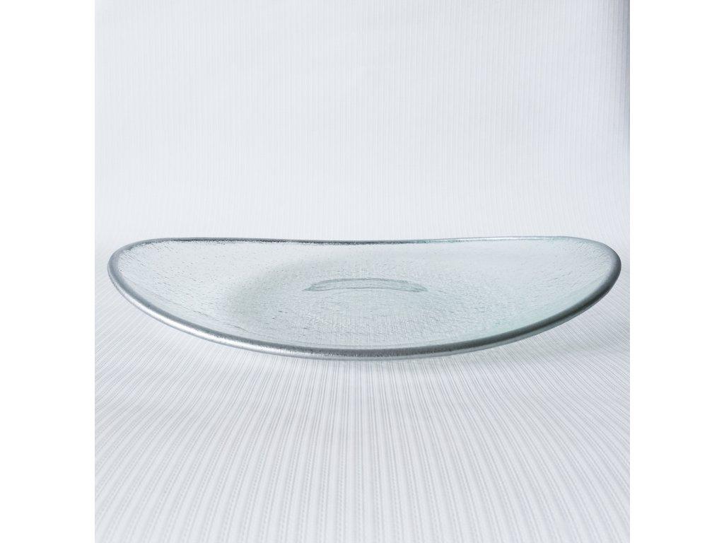 Oválný talíř stříbrný