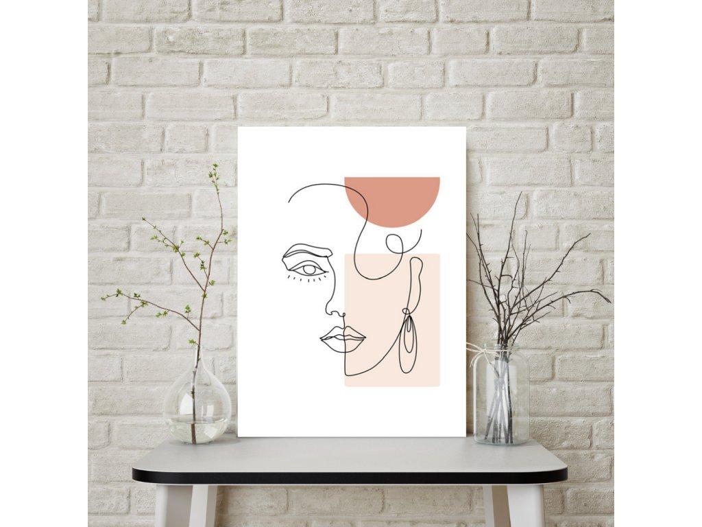 Plakát artline obličej