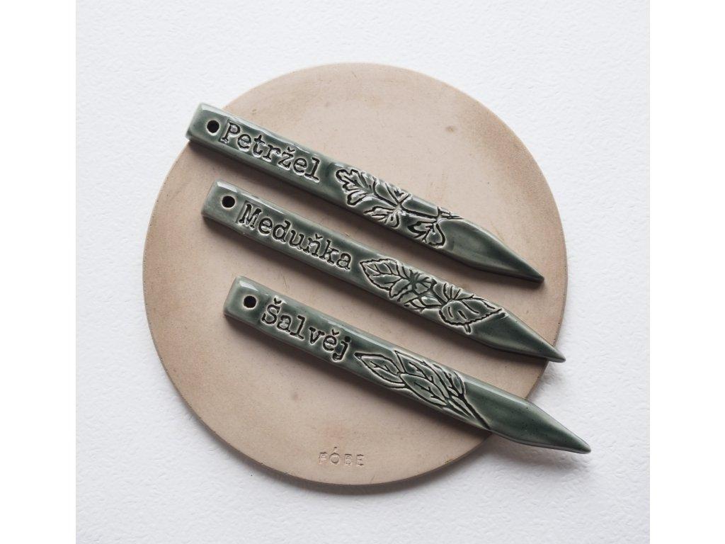 keramické zápichy na bylinky