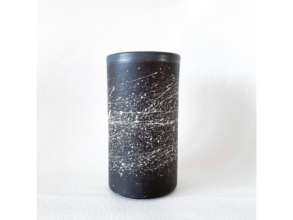 Černá váza mat