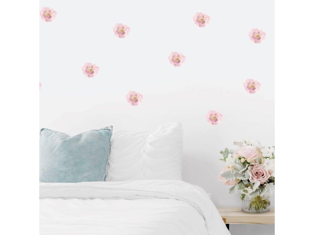 Samolepky na stenu kvetiny