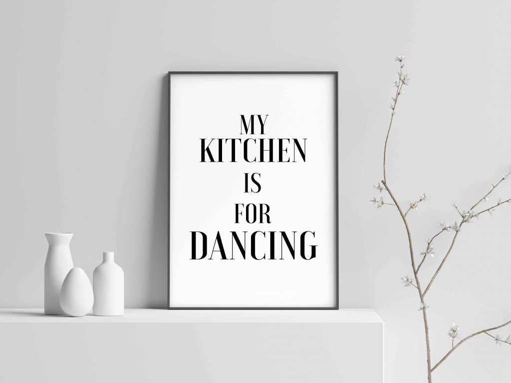 mockup dancing kitchen