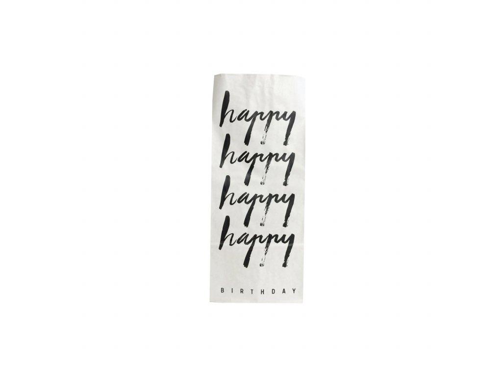 Papírový sáček HAPPY BIRTHDAY