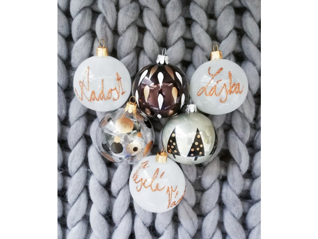 Vánoční koule gold